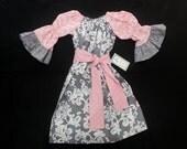 Girls Peasant Dress -  Bell Sleeve Dress -  Belted Dress -  Girls Spring Dress -  Birthday Dress - Groovy Gurlz