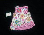 Girls Spring Dress - 1st Birthday Dress - Toddler Girl Dress - Reversible Dress - Girls Shift Dress - Groovy Gurlz
