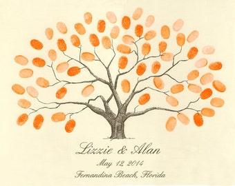 Fingerprint / Thumbprint Tree Guestbook Alternative SMALL Wedding