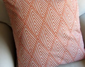 TANGERINE ikat pillow cover 18x18 20x20 22x22 24x24 26x26