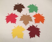 Large Leaves, Maple Leaves,  Assorted Fall Colors, Scrapbook, Supplies, Die Cuts, Cardstock, Table Scatter, Cards, Tags, Mobiles