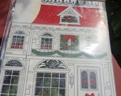 Set of 2 lovely Christmas house gift boxes.