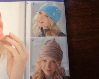 Simplicity misses' fleece hat pattern