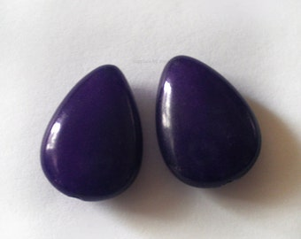 17x12mm Blue Violet Jade Teardrop - 2pcs