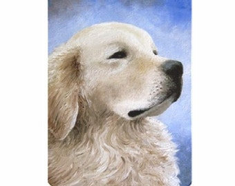 Fridge Magnet Print ACEO from my original painting Dog 98 Golden Retriever by Lucie Dumas