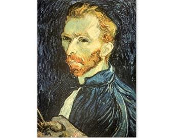 Portrait of the Artist, 1889, by Vincent Van Gogh - a Frameable Vintage 1952 Art Print