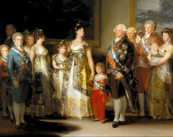 The Family of Charles IV, by Goya - an Original 1954 Frameable Art Print