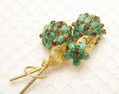Vintage Vendome Rhinestone Brooch Statement Jewelry P4497