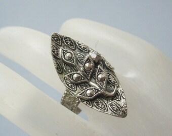 Vintage Marcasite Ring Western Germany Long Vintage Jewelry R5580