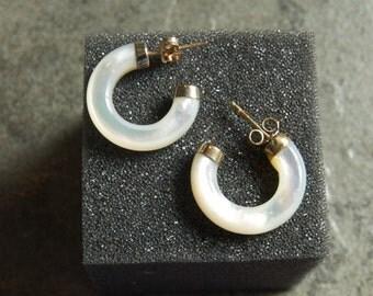 SALE WERE 55 Gorgeous MOP Hoop Earrings sh jlt
