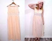 Boho Maxi Dress - Long Peach Dress - Summer Dress