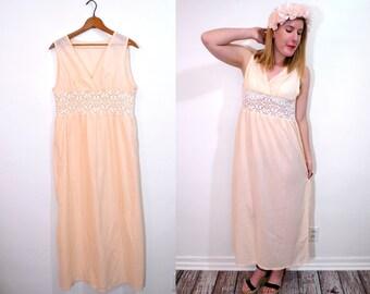 20 DOLLAR SUPER SALE! Boho Maxi Dress - Long Peach Dress - Summer Dress