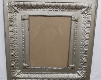 Reclaimed Tin Ceiling Silver 11 x 14 Picture Frame Photo S 2143-14