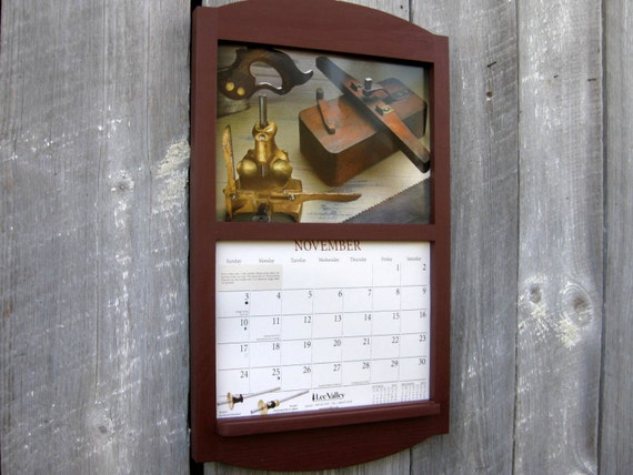 Calendar Wood Holder : Handmade wooden calendar holder in barn