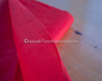 Crisp Red Organdy - Vintage Fabric 60s 70s New Old Stock Christmas