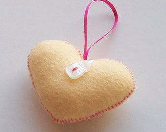 Mini Felt Sweetheart - Vanilla Baby Girl
