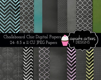 ChalkBoard Set  Digital  Papers Commercial use for paper, invites InStAnT DoWnLoAd