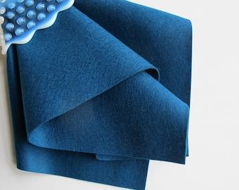 Peacock Blue, Wool Felt, Pure Merino Wool, Choose Size, 1mm Thick Felt, DIY Craft Supply, Wool Applique, Waldorf Handwork, Toxin Free Felt