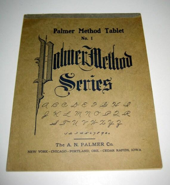 Vintage Penmanship Practice Booklet Palmer Method Tablet No
