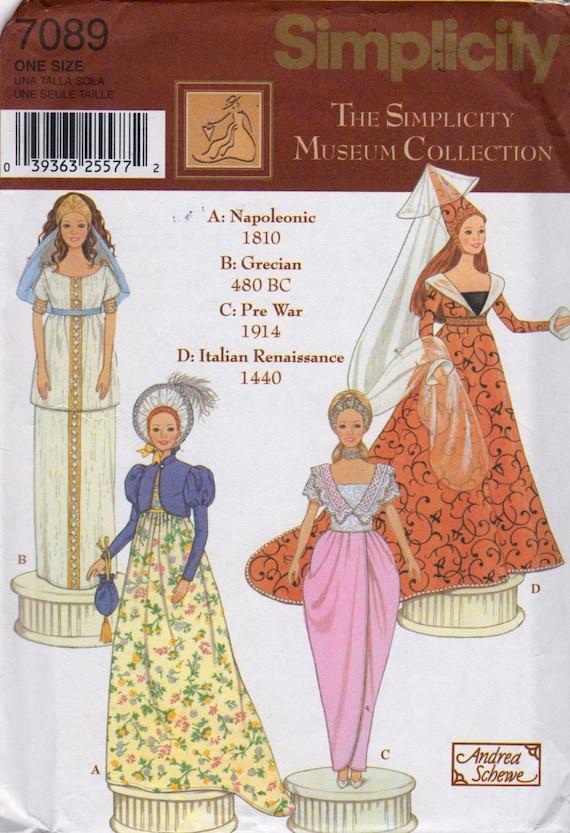 Simplicity 7089 Designer Fashion Doll Clothes Pattern Barbie