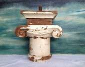 Salvaged ARCHETECURAL CAPITOL, Wooden Embellishment, Shelf Decor, Edwardian Decor, Art Deco