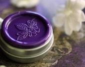 Cimbalom Solid Natural Perfume Round Tin - Hawaiian Jasmine, Patchouli and Amber - Organic, Botanical, Exotic Pikake Fragrance