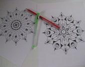 Instant Download Mandala Coloring Pages - 5 Printable Designs  - Set 14
