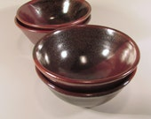 Kitchen Prep Bowls - Four bowl set - Rusty Red Brown bowl - Wheel Thrown Bowls - Stoneware Bowls - Handmade Ceramic Bowl - Pottery Bowl