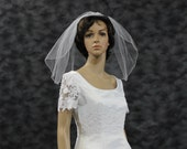 Shoulder Length Veil 1 Layer Veil Short Veils Pencil Edge Veil Wedding Veil Short One Tier White Veil Ivory Veil Bridal Veils 22 Tulle Veil