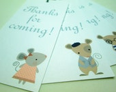 Mouse Family 'Thanks for Coming' Tags