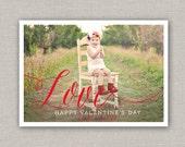 Love Valentine's Day Photo Card