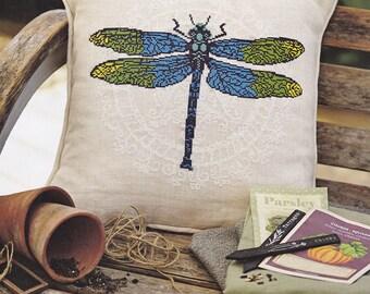 Cross stitch pattern DRAGONFLY cross stitch,needlepoint,embroidery pattern,scandinavian,cross stitch pillow,summer,pillows,cushions,swedish