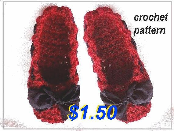 Slippers crochet pattern - num 449, Mary Jane Skimmers age 1 to adult large, ok to sell your finished slipper, digital download