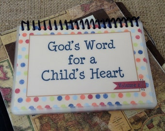 God's Word for a Child's Heart - Volume 2, PERSONALIZED, Spiral-Bound, Laminated Bible verse cards