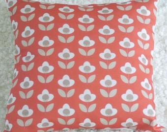 Red Tulip Print Cushion Cover Pillow Sham