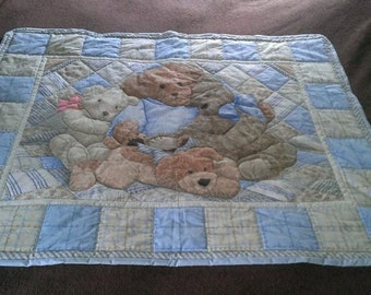 Adorable Teddy and Friends Baby Panel Quilt