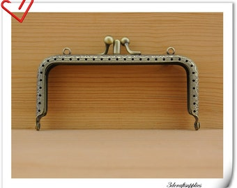 12.5cm x 5.5 cm ( 5 x  2.25  inch ) anti brass double sewing purse frame  handbag frame Y63