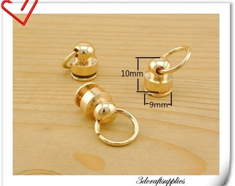 Chain loop  Chain attachment screws pull ring  GOLD  8 sets AC99