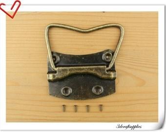 8.5cm x 6cm truck hardware, Chest handles Box handles metal handles 2pcs  P126