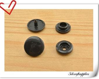 12mm KAM snaps , snap fastener , KAM snap fastener, Plastic snap fasteners ,black snaps 100sets  AT1G