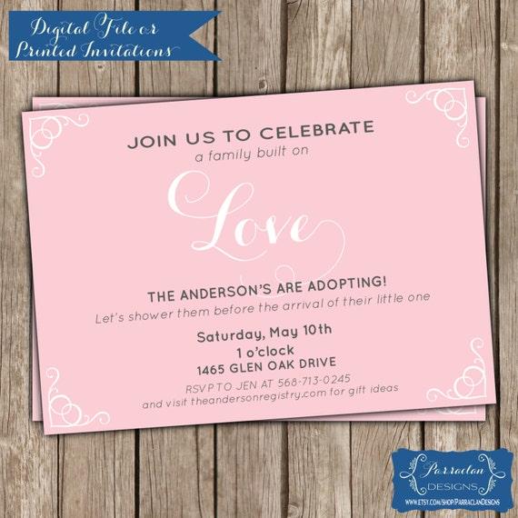 Adoption Baby Shower Invitation Wording was best invitations template