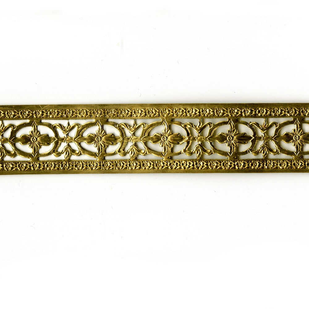 Floral border brass banding bezel making jewelry