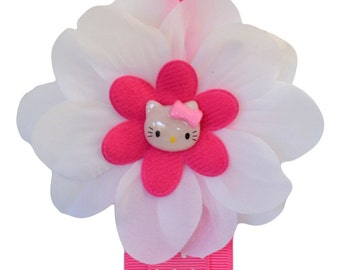 HAIR BOW HOLDER Pink Kitty Design - 3 Feet Long