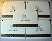 CHIHUAHUA dog note cards card gift hand crafted 5 pack rescue group