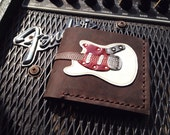 Hand Stitch Men Wallet Fender Mustang Colored White