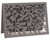 Leaf Lace Table Numbers - slate gray, wedding, place card, escort card, reception signage, wedding table number, wedding sign, laser cut