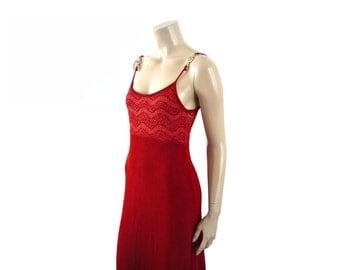 ELITELLE FRench Vintage Red Maxi Dress