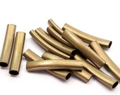 750 Oval Antique Brass Tubes  (40x7.2x4.5mm) sq30