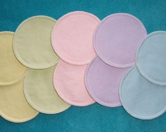 "4.5"" Reusable Waterproof Breastfeeding Nursing Pads Discreet Washable Leakproof Eco Friendly Soft Flannel + PUL"