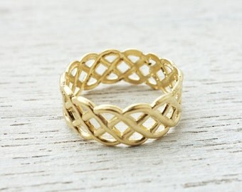 On Sale 20% Off, Yacht Ring, metal strips, nautical ring